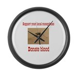Donate Blood Mosquito Large Wall Clock