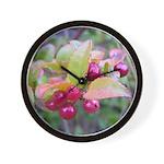 Huckleberries Wall Clock