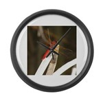 Red Dragonfly Large Wall Clock