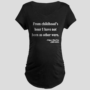 Edgar Allan Poe 19 Maternity Dark T-Shirt
