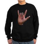 I Love You ILY Hand Sweatshirt (dark)