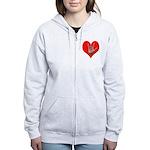 ILY Heart Women's Zip Hoodie