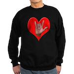 ILY Heart Sweatshirt (dark)