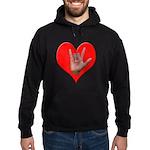 ILY Heart Hoodie (dark)