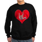 Mom and Baby ILY in Heart Sweatshirt (dark)