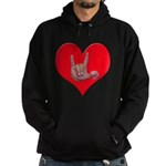 Mom and Baby ILY in Heart Hoodie (dark)