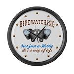 Birdwatching Way of Life Large Wall Clock