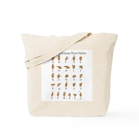 Sign Language Alphabet Tote Bag