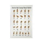 Sign Language Alphabet Rectangle Magnet (100 pack)