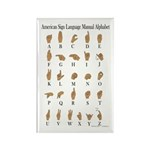 Sign Language Alphabet Rectangle Magnet (10 pack)