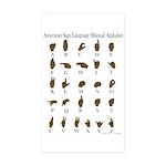 ASL Alphabet Sticker (Rectangle 50 pk)