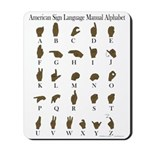 ASL Alphabet Mousepad