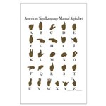 ASL Alphabet Large Poster