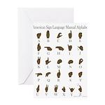ASL Alphabet Greeting Card