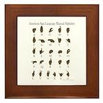 ASL Alphabet Framed Tile