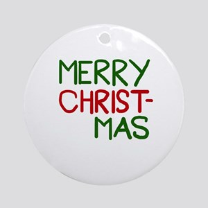 Merry Christmas Cool Ornament (Round)
