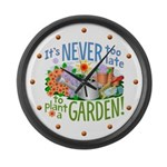 Plant a Garden Large Wall Clock