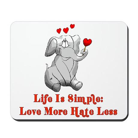 Sweet Love Elephant Mousepad