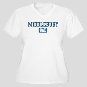 Middlebury dad Women's Plus Size V-Neck T-Shirt