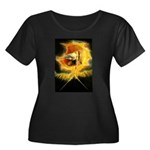 Ancient Women's Plus Size Scoop Neck Dark T-Shirt