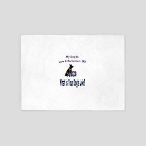 law enforcement dog GSD 5'x7'Area Rug