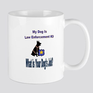 law enforcement dog GSD Mugs