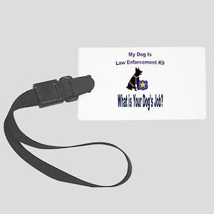 law enforcement dog GSD Luggage Tag