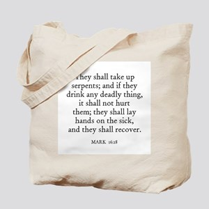 MARK  16:18 Tote Bag