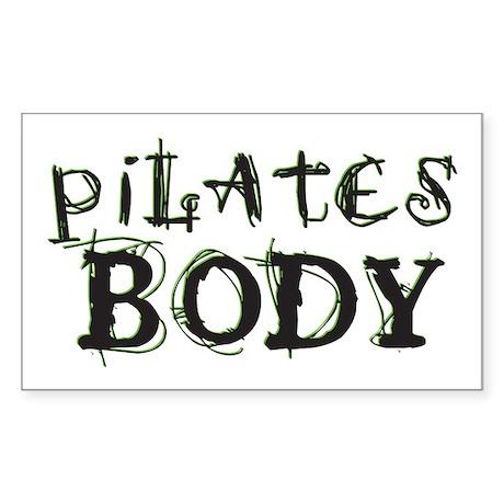 pilates body Rectangle Sticker