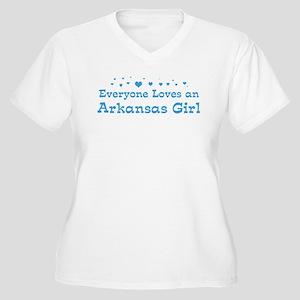 Loves Arkansas Girl Women's Plus Size V-Neck T-Shi