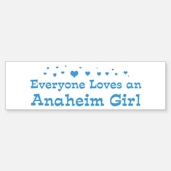 Loves Anaheim Girl Bumper Bumper Bumper Sticker