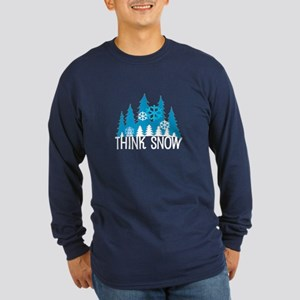 Think Snow Long Sleeve Dark T-Shirt
