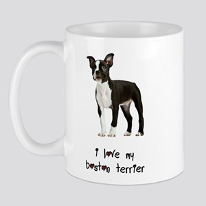 I Love My Boston Terrier Mug
