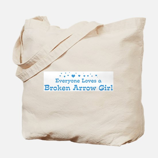 Loves Broken Arrow Girl Tote Bag