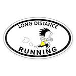 Zack Long Distance Oval Sticker