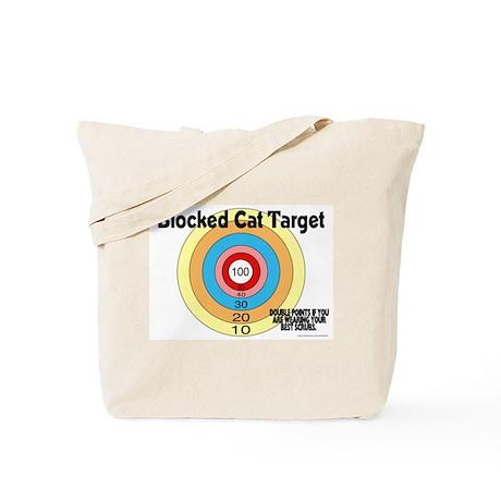 Blocked Cat Target Tote Bag