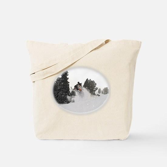 Flying Through Snow Tote Bag