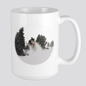 Flying Through Snow Large Mug