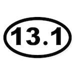 13.1 Half Marathon Oval Sticker