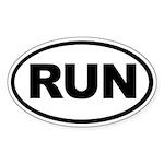 Run Oval Sticker