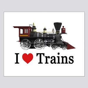I LOVE TRAINS Small Poster