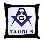 Masonic Taurus Throw Pillow