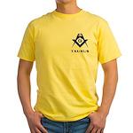 Masonic Taurus Sign Yellow T-Shirt