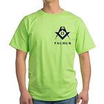 Masonic Taurus Sign Green T-Shirt