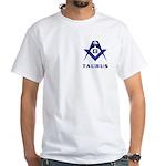 Masonic Taurus White T-Shirt
