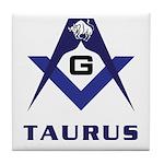 Masonic Taurus Tile Coaster