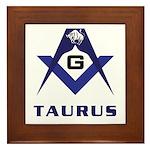Masonic Taurus Framed Tile