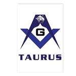 Masonic Taurus Postcards (Package of 8)