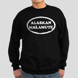 Alaskan Malamute Breed Oval Sweatshirt (dark)