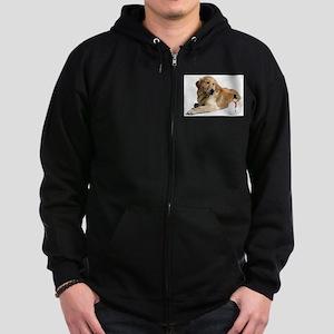 Golden Retriver Holidays Zip Hoodie (dark)